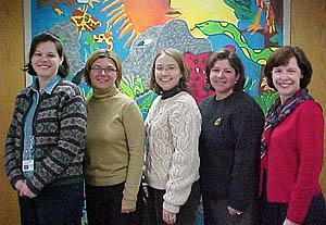 Kim and her team teachers.