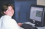 kim at computer