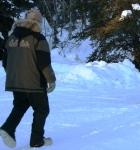 Junior Iditarod volunteer