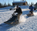 sled ride at the start
