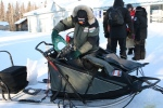 Mushers often change their sleds after the Happy Steps to a sled better suited for the Interior of Alaska.