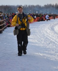 Jeff Schultz at the 2013 Iditarod Race Start