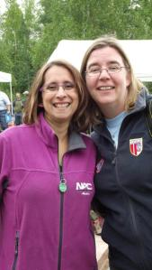 With Kathy Cappa at the Volunteer Picnic