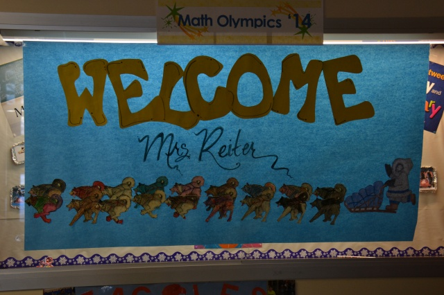 Greeting at Larson Elementary!
