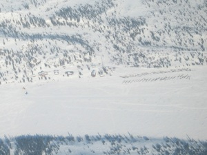 Aerial view of Rainy Pass