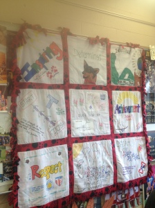 Iditarod Traveling Quilt created by Summer Camp Teachers