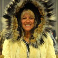 Tina Scheer models a native made parka