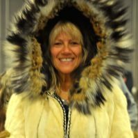 Tina Scheer models a native made parka