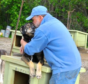 Vern Halter, Dream a Dream Dog Farm, with one of his dogs, Aspen.