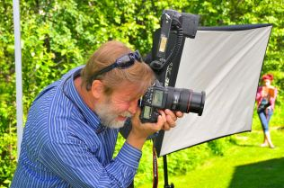 Jeff Schultz taking a photo.