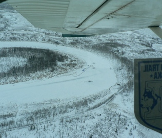 Aerial view of Iditarod Checkpoint