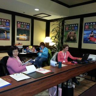 Volunteer registration desk