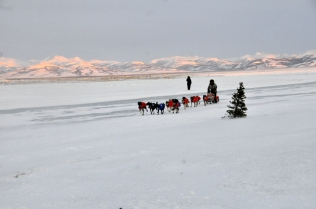 Jeff King arriving in Unalakleet