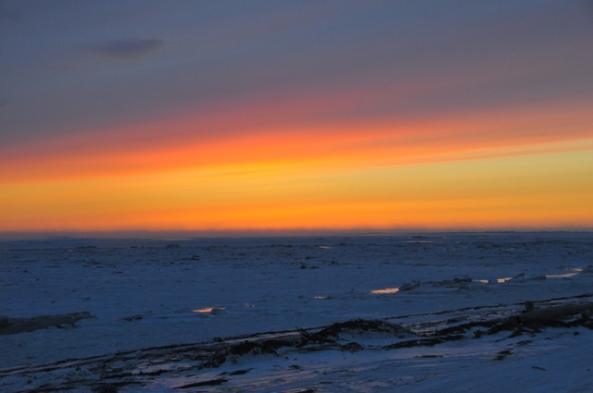 Sunset in Unalakleet
