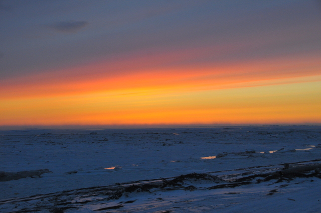 Sunset in Unalakleet