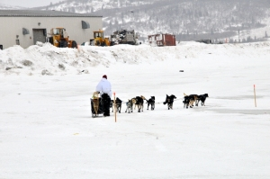Martin leaving Unalakleet