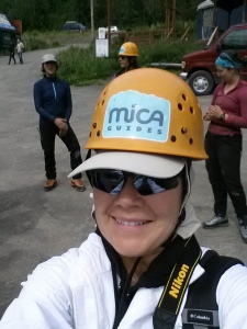 Lorraine has her gear checked at MICA HQ