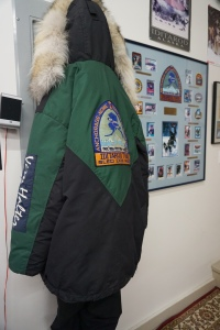 Retired musher Vern Halter's parky from past Iditarod races