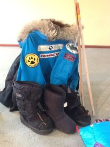 Matt Failor's parky and gear for the 2015 iditarod