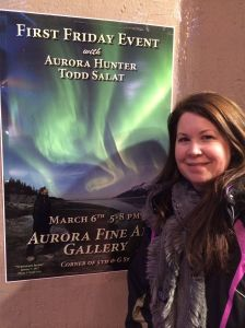 Laura Wright 2016 Iditarod Teacher on the Trail™ in downtown Anchorage