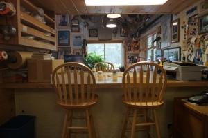Jon's art studio