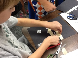 Use foil to create circuits