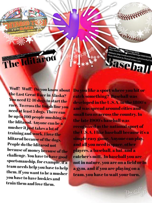 The Iditarod vs. Baseball