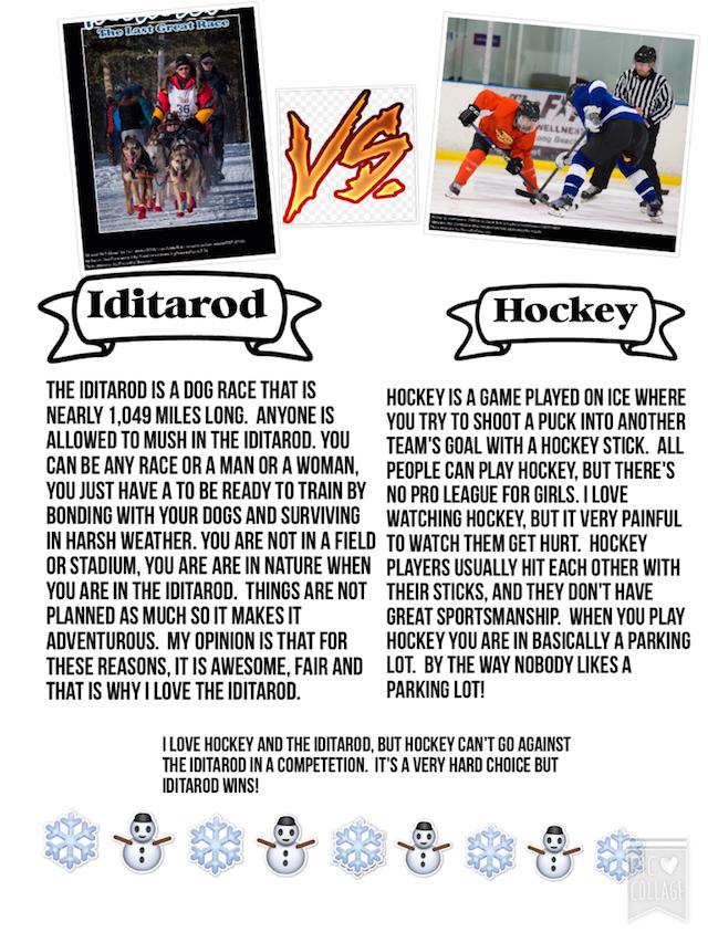 The Iditarod vs. Hockey