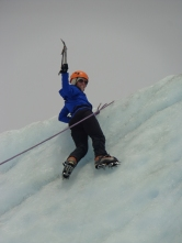 Ice climbing on Root Glacier in Wrangell-St. Elias National Park
